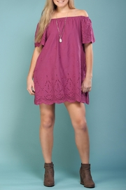 TCEC Off-Shoulder Eyelet Dress - Product Mini Image