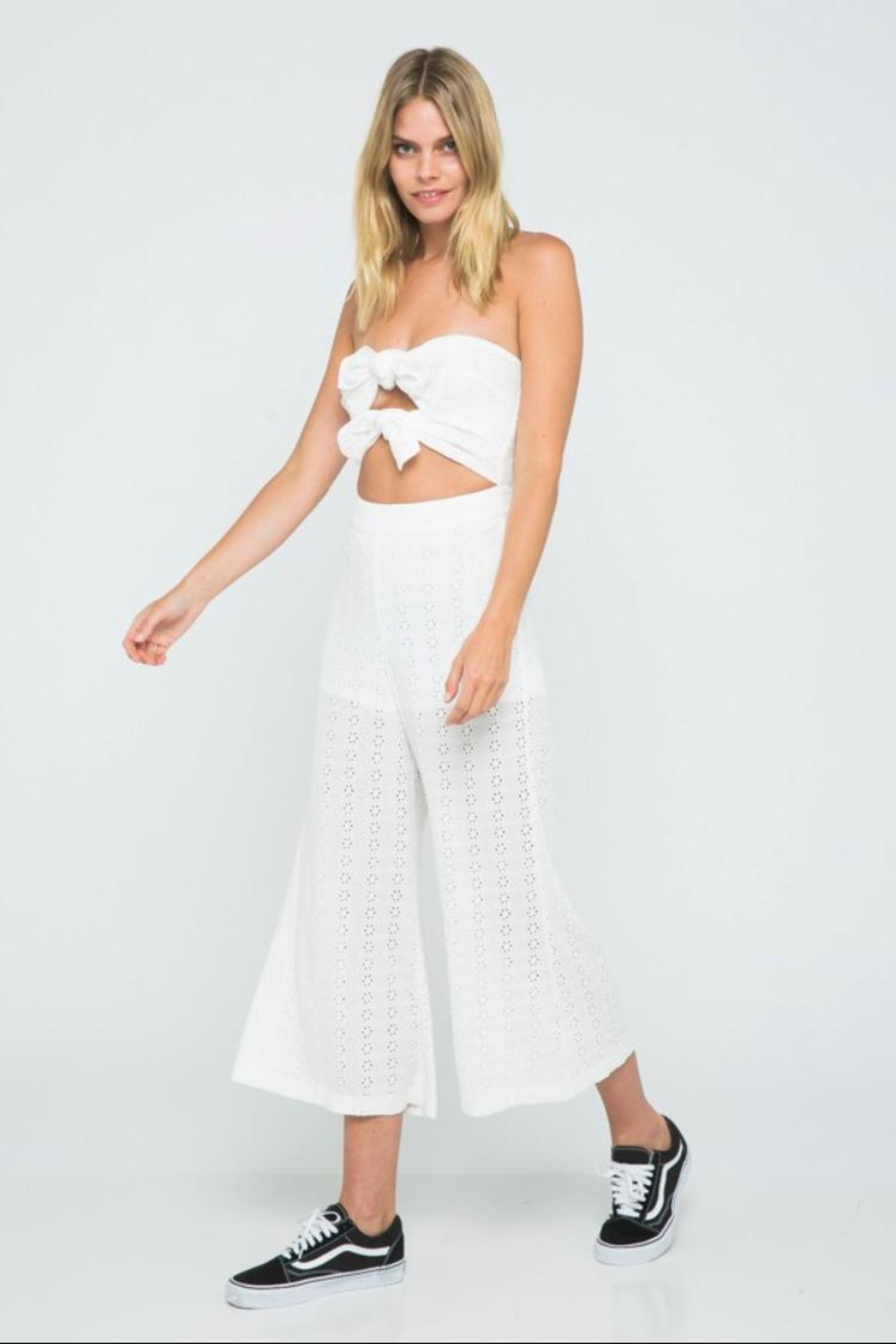 a88db98bee4 skylar madison Off-Shoulder Eyelet Jumpsuit from Los Angeles by ...