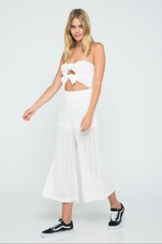 skylar madison Off-Shoulder Eyelet Jumpsuit - Product Mini Image