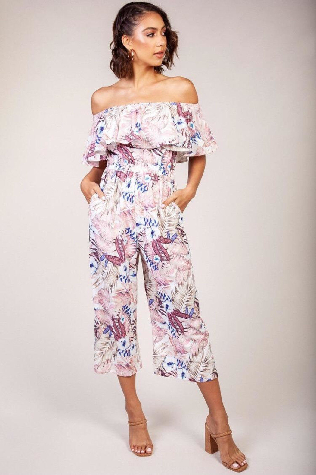29f21fd4b5576 Latiste Off-Shoulder Floral Capri-Jumpsuit from Los Angeles by ...