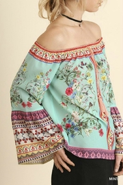 Umgee USA Off-Shoulder Floral Charmer - Front full body
