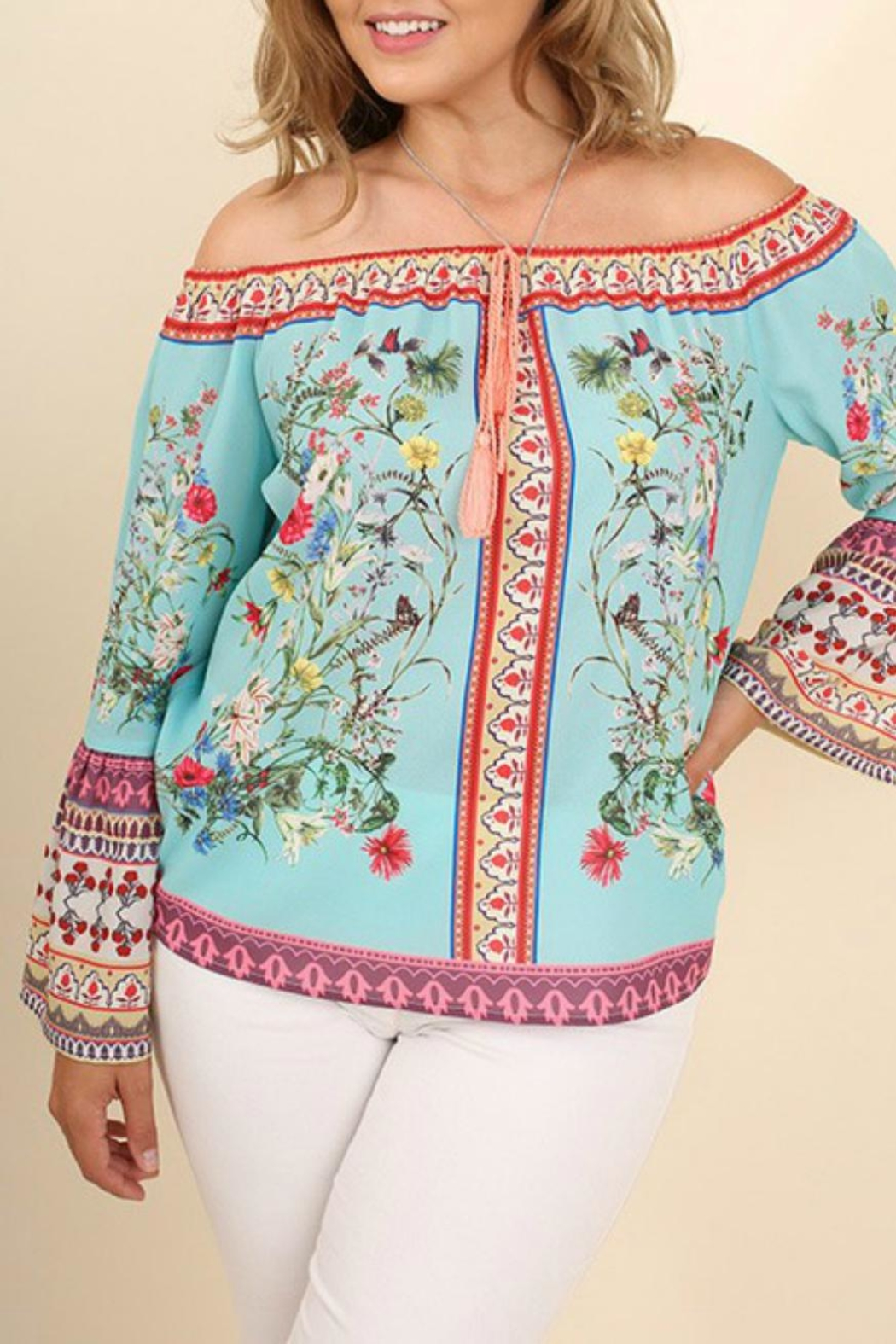 Umgee USA Off-Shoulder Floral Charmer - Main Image