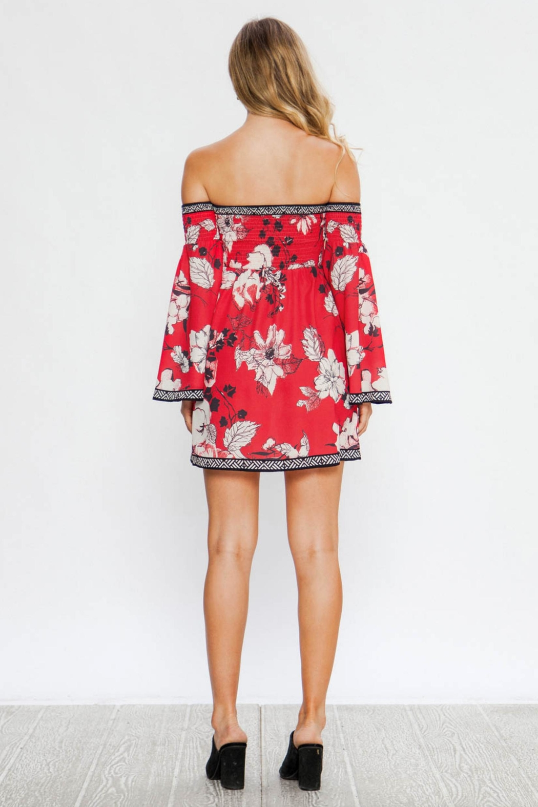 83c7df01a4b Flying Tomato Off Shoulder Floral-Dress from Florida by Apricot Lane ...