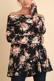 Off Shoulder Floral Tunic - Front cropped