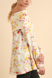 Off Shoulder Floral Tunic - Front full body