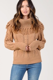 Johnny Becca Off Shoulder Fringe Sweater - Product Mini Image