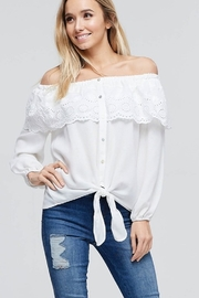 FSL Apparel Off Shoulder Gauze Top - Product Mini Image