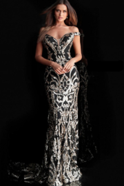 Jovani Off Shoulder Gown - Product Mini Image