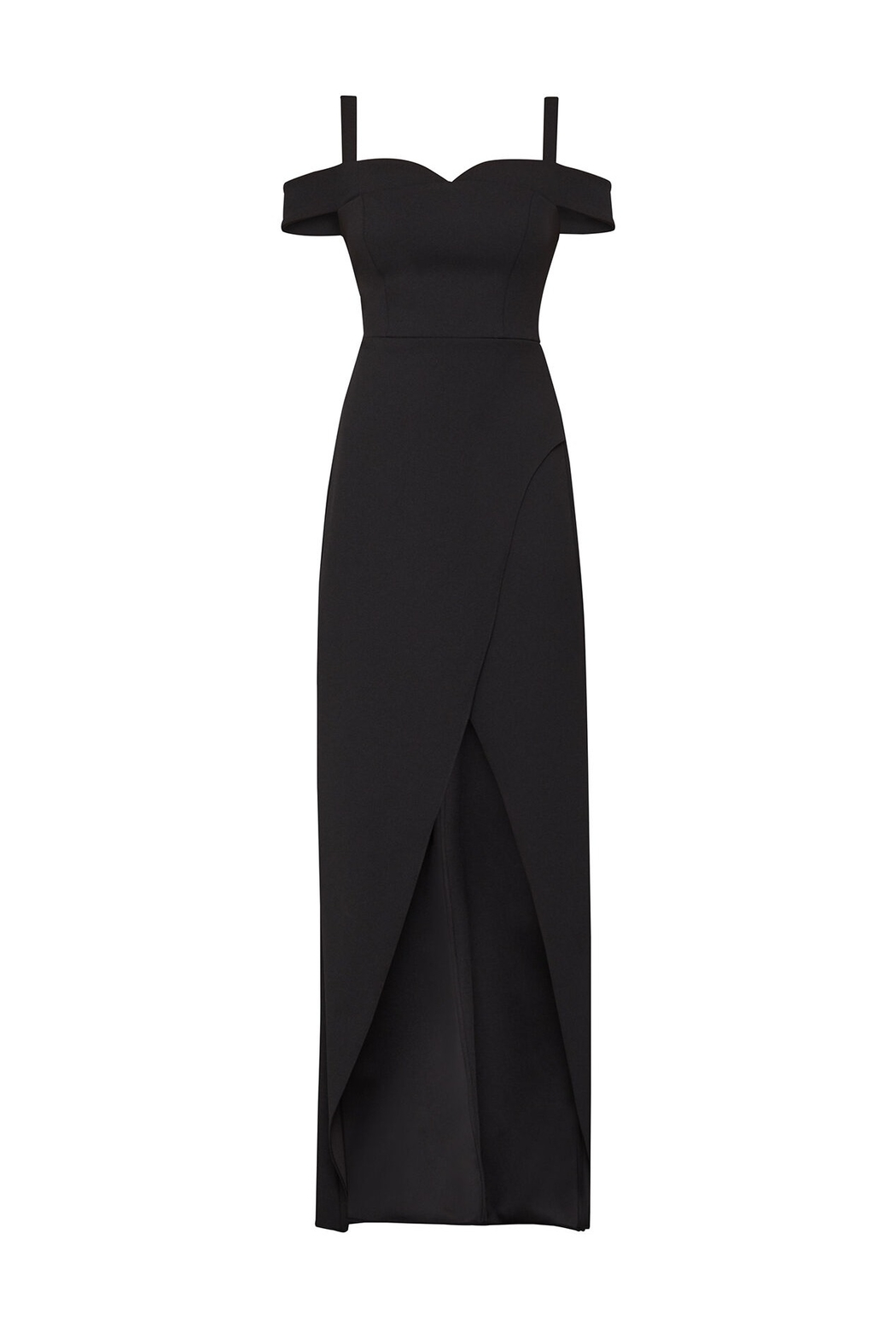 BCBG MAXAZRIA Off Shoulder Gown - Back Cropped Image