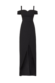 BCBG MAXAZRIA Off Shoulder Gown - Back cropped