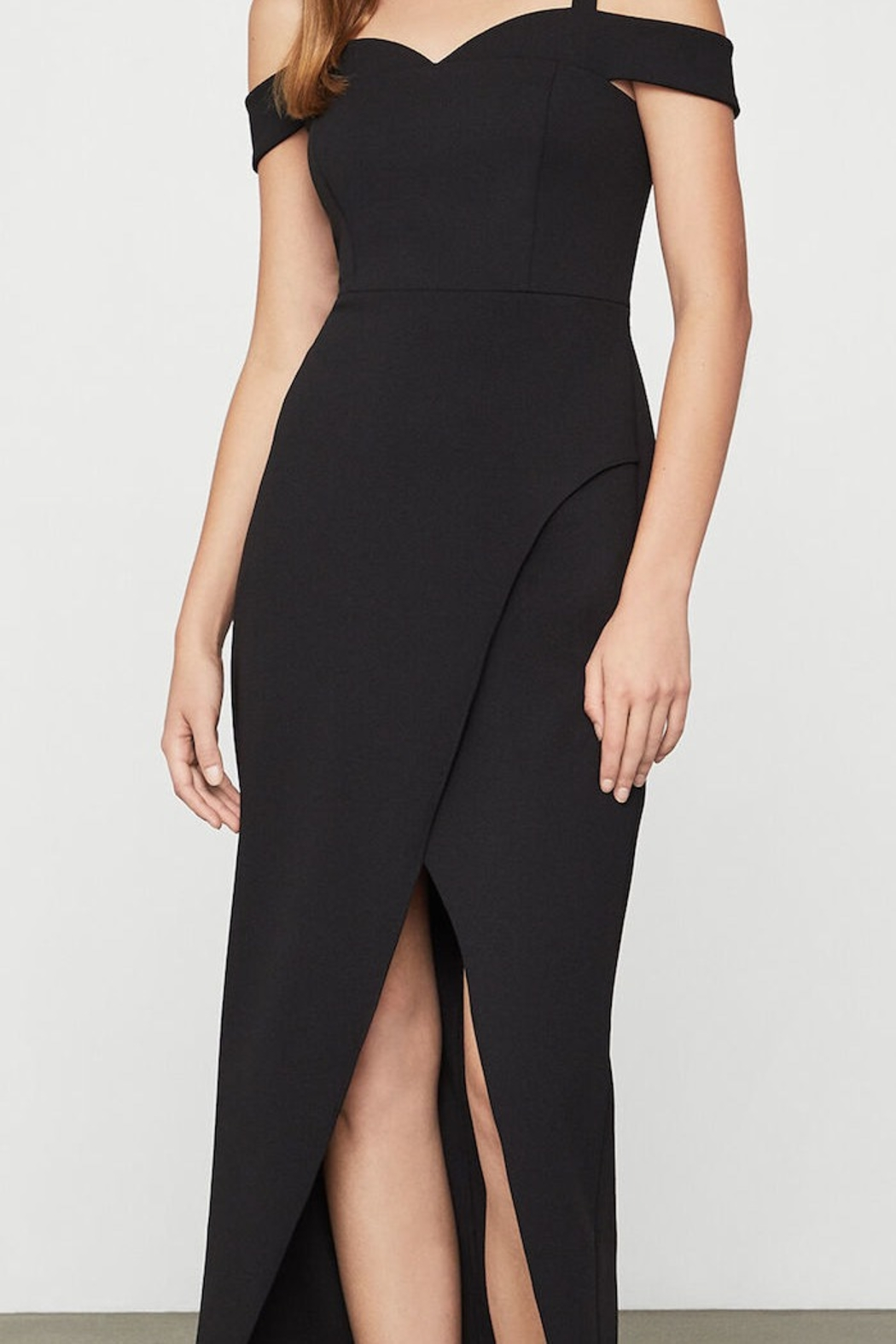 BCBG MAXAZRIA Off Shoulder Gown - Side Cropped Image