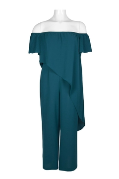 Adrianna Papell/Imm App Off Shoulder Jumpsuit - Product List Image