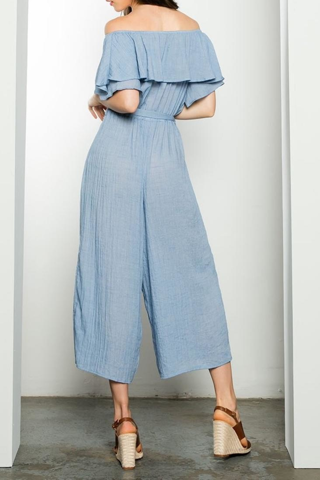 THML Clothing Off Shoulder Jumpsuit - Side Cropped Image