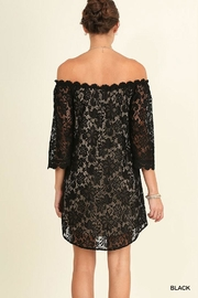 Umgee USA Off Shoulder Lace-Dress - Front full body
