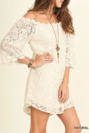 Umgee USA Off Shoulder Lace-Dress - Side cropped