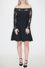 Hayden Los Angeles Off-Shoulder Lace Dress - Product Mini Image