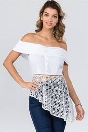 Lulumari Off-Shoulder Lace Top - Product Mini Image