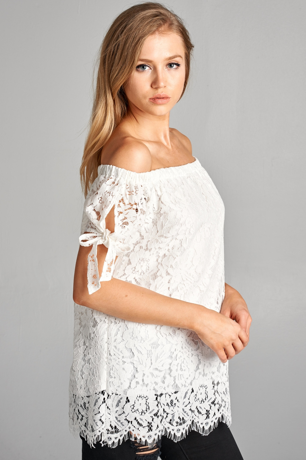 07165336e8c082 Racine Off Shoulder Lace-Top from California by Racine Love — Shoptiques