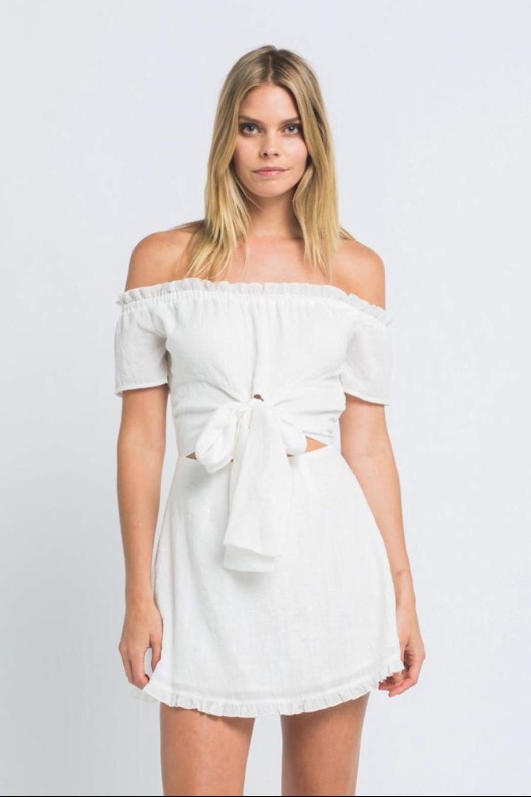 skylar madison Off-Shoulder Mini Dress - Front Cropped Image