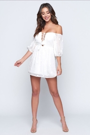 Chikas Off-Shoulder Mini Dress - Back cropped