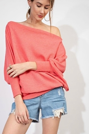 easel Off-Shoulder Oversized Tunic - Product Mini Image