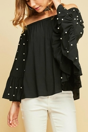 Entro Off-Shoulder Pearled Top - Product Mini Image