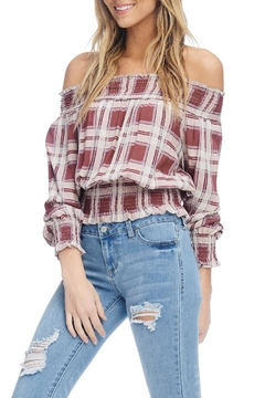 Anama Off-Shoulder Plaid Top - Product List Image