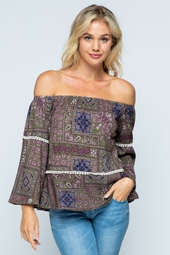 Twenty Second Off Shoulder Printed Top - Product List Image