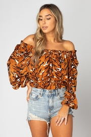 Buddy Love Off Shoulder Raja Blouse - Product Mini Image