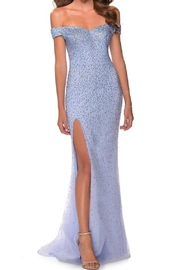 La femme Off Shoulder Rhinestone Gown - Product Mini Image