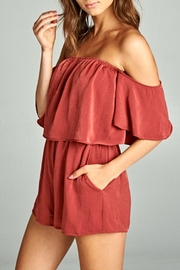 Caramela Off Shoulder Romper - Product Mini Image
