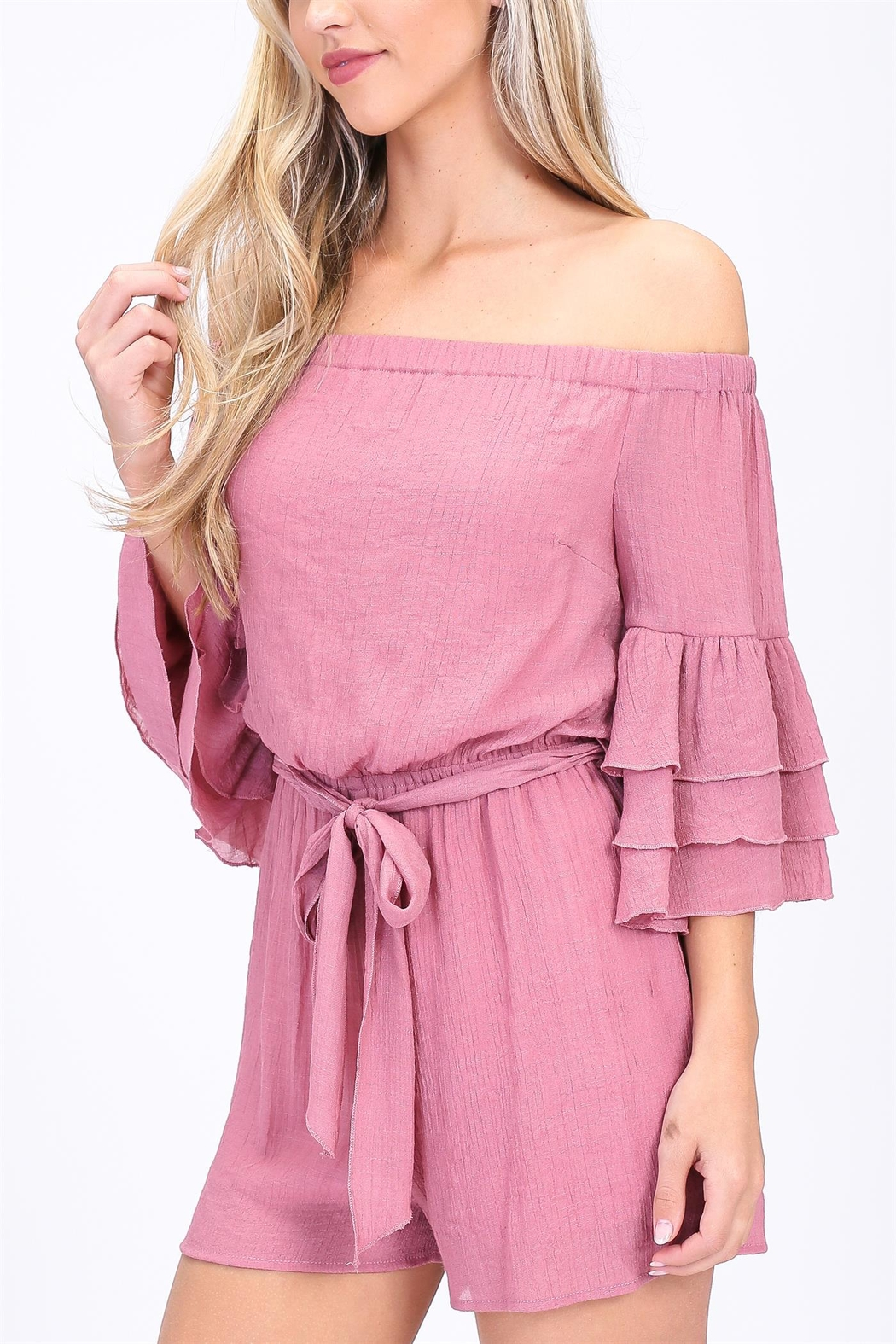Off Shoulder Romper by Dor L'dor, New York City