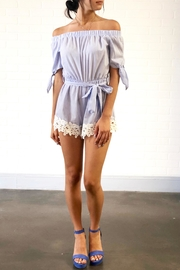 story on Off Shoulder Romper - Product Mini Image