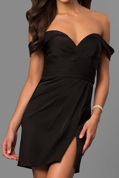 Faviana Off-Shoulder Ruched Dress - Product List Image