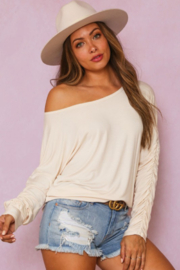 Fantastic Fawn Off Shoulder Ruched Sleeve - Product Mini Image