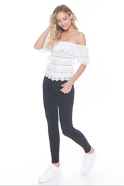 alpha & omega Off-Shoulder Ruffle Bodysuit - Product Mini Image