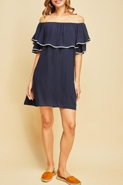 Entro Off-Shoulder Ruffle Dress - Product Mini Image