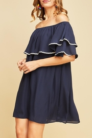 Entro Off-Shoulder Ruffle Dress - Front full body