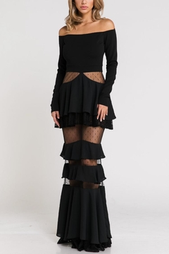 Blithe  Off-Shoulder Ruffle Maxi - Product List Image