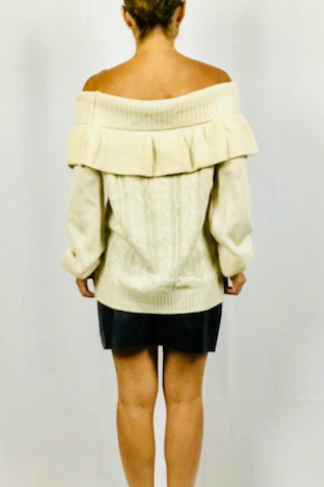 Very J Off-Shoulder Ruffle Sweater - Side Cropped Image