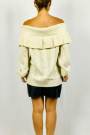 Very J Off-Shoulder Ruffle Sweater - Side cropped