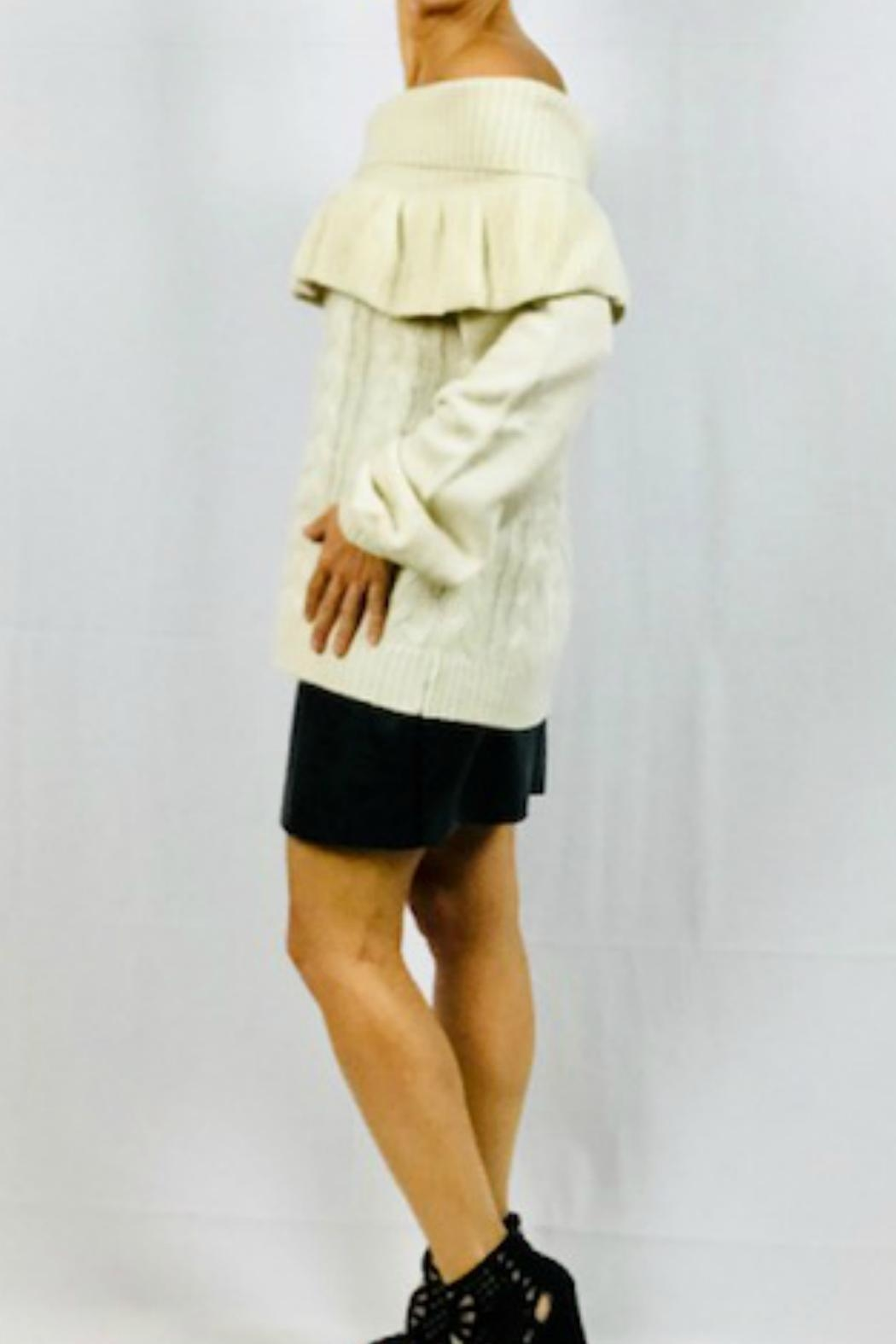Very J Off-Shoulder Ruffle Sweater - Front Full Image
