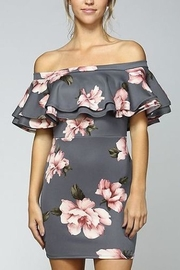 Blooms in The City Off-Shoulder Ruffled Mini - Product Mini Image