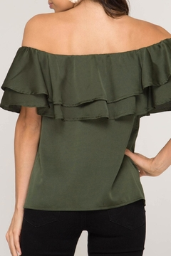 She + Sky Off-Shoulder Satin Top - Alternate List Image
