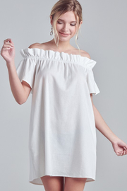 R+D Off Shoulder Shirring Dress - Product Mini Image