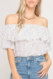 She + Sky Off-Shoulder Star Top - Product Mini Image