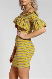 Rehab Off-Shoulder Stripe Dress - Product Mini Image