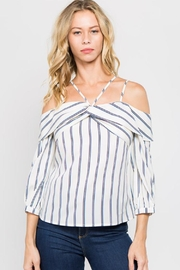 Lulumari Off-Shoulder Stripe Top - Product Mini Image