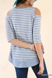 Umgee USA Off-Shoulder Stripe Tunic - Side cropped