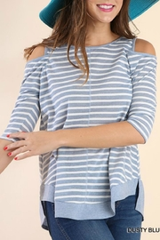 Umgee USA Off-Shoulder Stripe Tunic - Product Mini Image